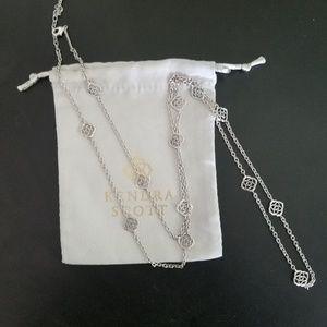 Devalyn Long Necklace in Silver